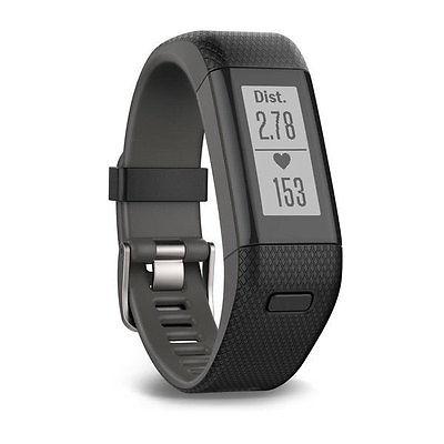 Garmin vívosmart® HR+ (mit GPS,Größe M) Schwarz Fitnesstracker Aktivitätstracker