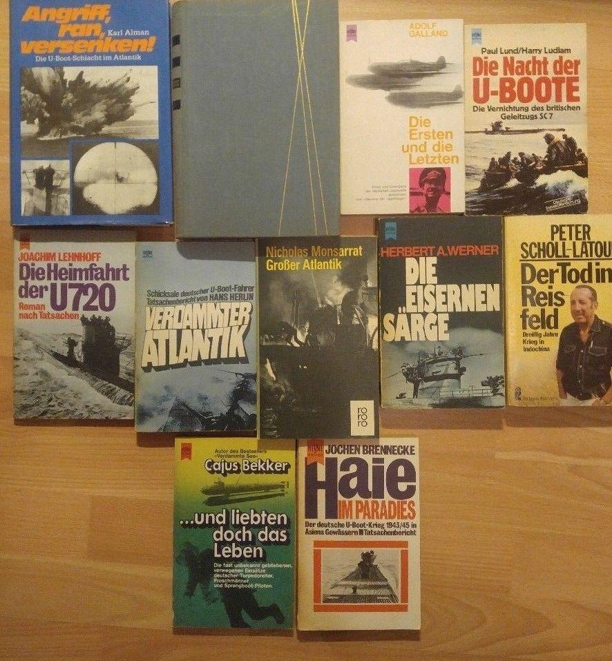 Konvolut Kriegsbücher Marine U-Boot Division Roman Jagdwaffe Rollbahn Ostfront