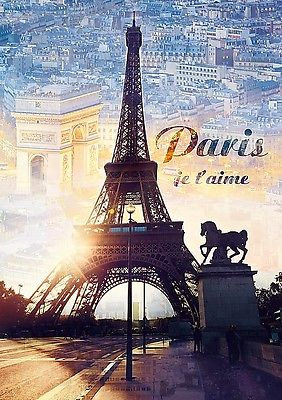 Puzzle Trefl 1000 Teile Paris in der Dämmerung Eiffelturm Frankreich 10394