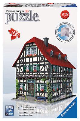 Ravensburger 12572 - Fachwerkhaus - 3D Puzzle - Bauwerke, 216 Teile
