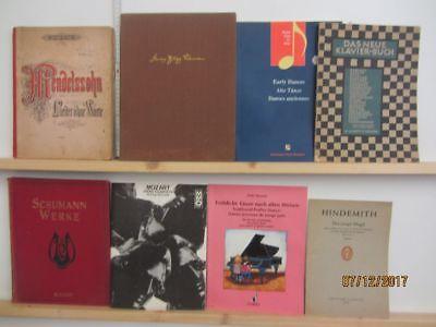 110 Bücher Hefte Noten Notenbücher Notenhefte Partituren teilweise antiquarisch