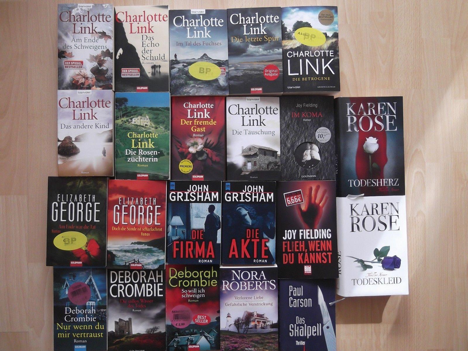 Bücherpaket 22 Thriller / Krimi - Romane Charlotte Link, John Grisham u. a.