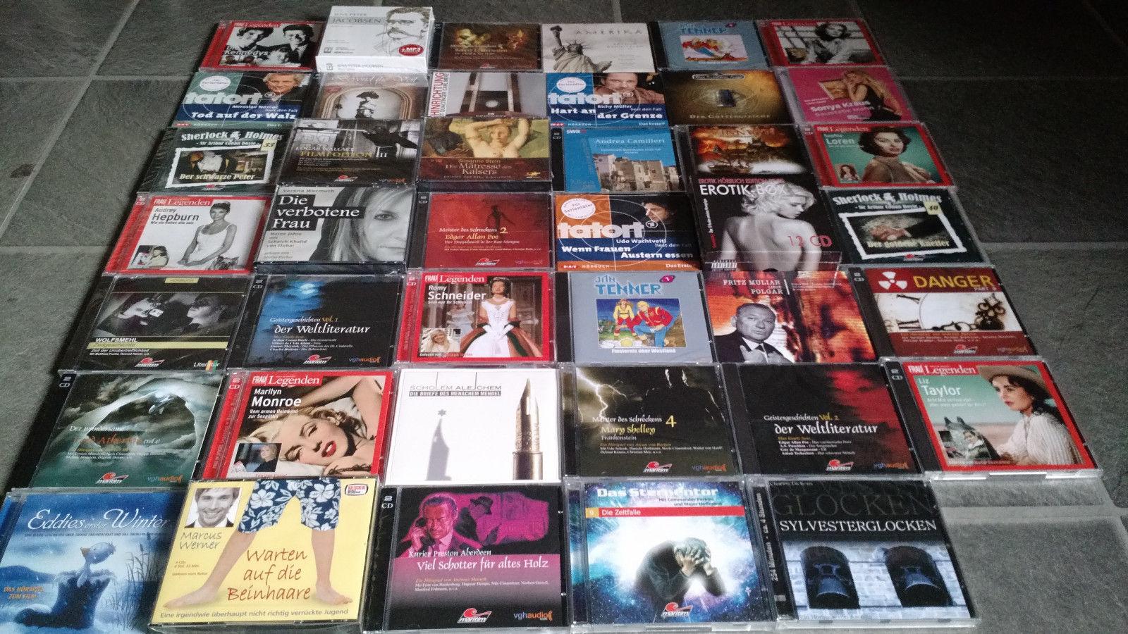 75 Hörbuch Hörspiel CDs Krimi Thriller Grusel Literatur Hörbücher Hörspiele NEU