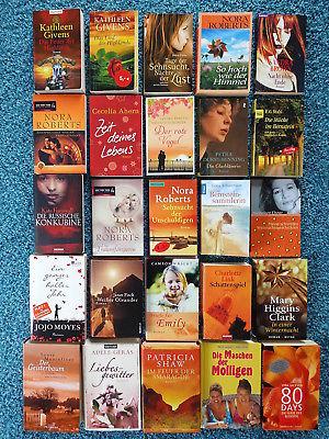 Bücherpaket 25 Liebesromane Frauenromane Durst-Benning Moyes Link Jackson Wright