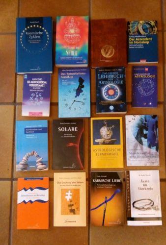 Riesen Bücherpaket Astrologie. 61 Bücher.