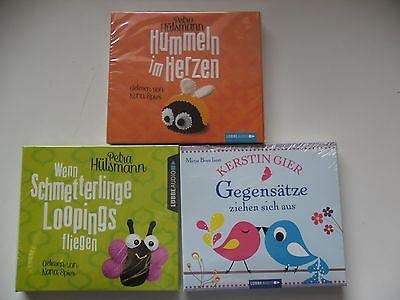 3 x Hörbuch Hülsman/Gier |Hummeln,Schmetterlinge,Gegensätze