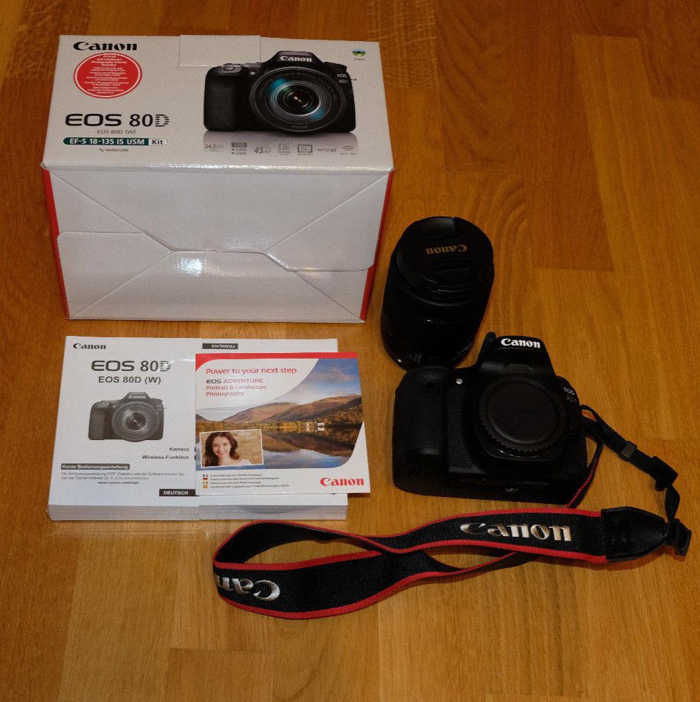 Canon EOS 80D 24.2MP Digitalkamera ohne Objektiv. (USB Defekt)
