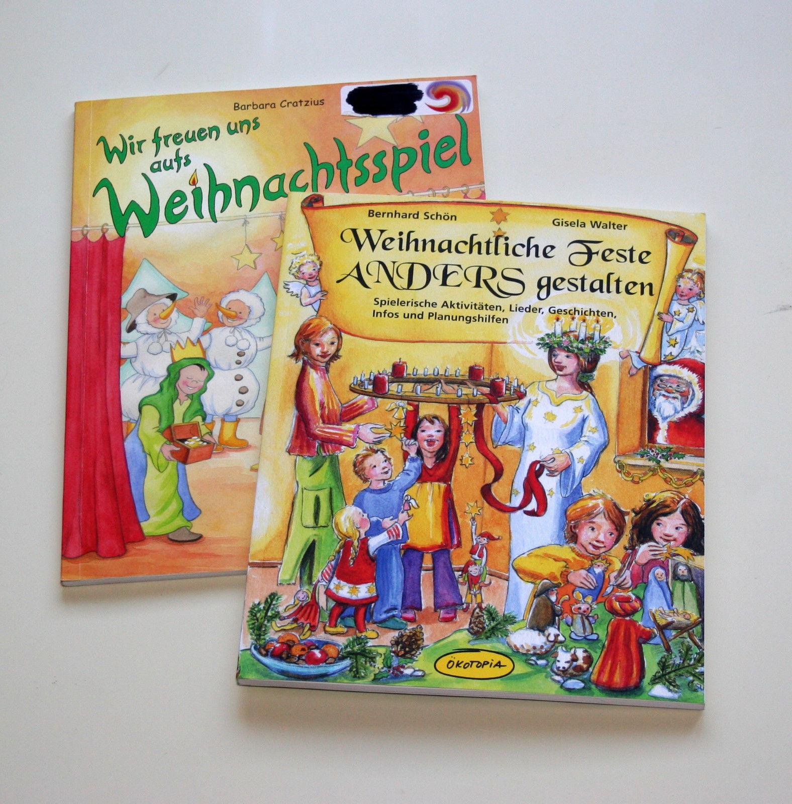 2 Bücher Ökotopia Weihnachten Advent Krippenspiel Kita Kindergarten