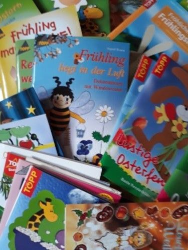 Konvolut 90 Bastelbücher Bastelhefte Topp, Christophorus Verlag