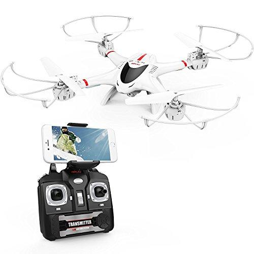 DBPOWER MJX X400W FPV Drohne mit WLAN Kamera Zurückkehrfunktion, Quadcopter mit Kopflosmodus für Kinder und Anfänger