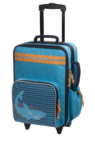 Lässig stabiler Kinder Reisekoffer/Kindertrolley mit separatem Schuh-/Wäschebeutel,