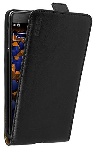 mumbi PREMIUM Leder Flip Case für Samsung Galaxy Note 4 Tasche