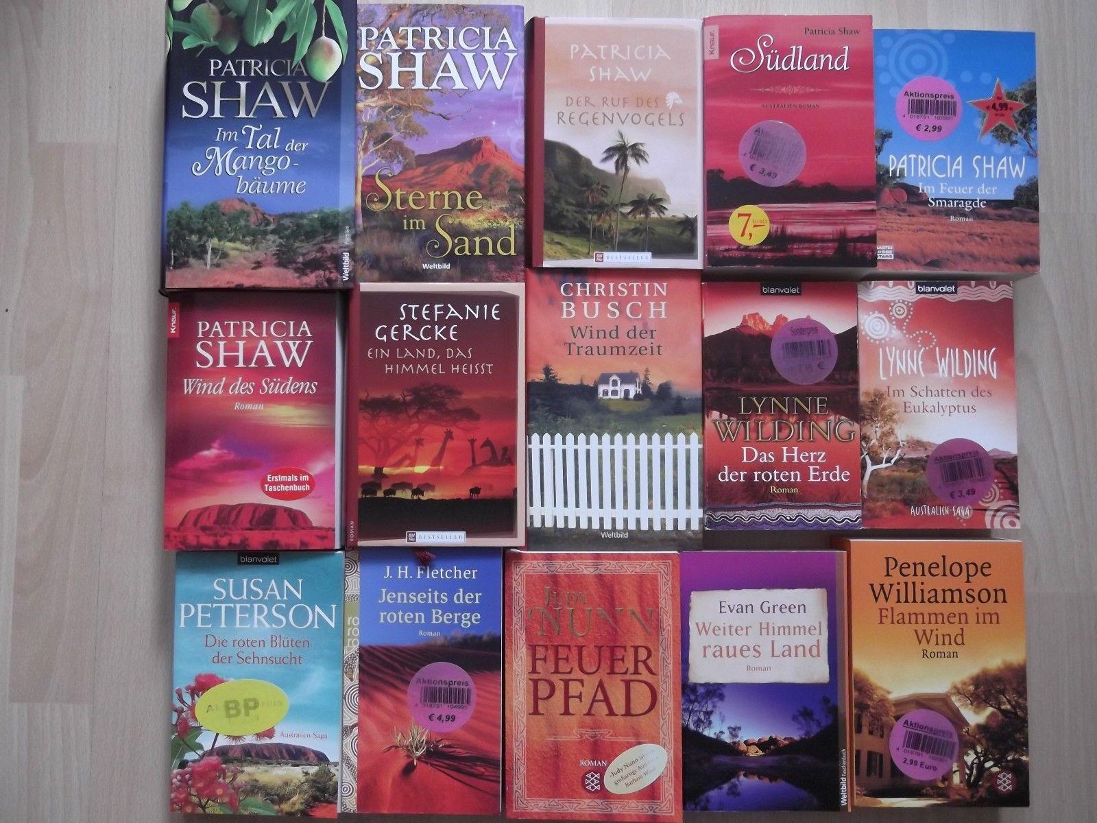 Bücherpaket 15 Australien-Romane Patricia Shaw, Lynne Wilding, J.H.Fletcher u.a.