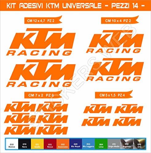 Aufkleber stickers KTM UNIVERSAL -Motorrad- Cod. 0613 (Arancione cod. 035)