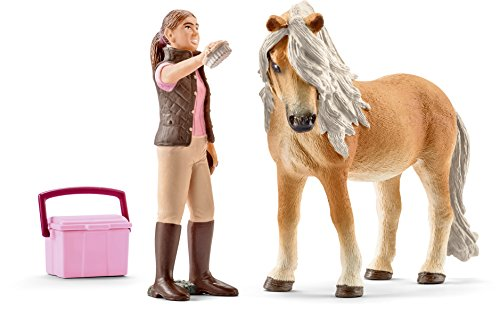 Schleich 41431 - Pferdepflegerin mit Island Pony Stute Figur
