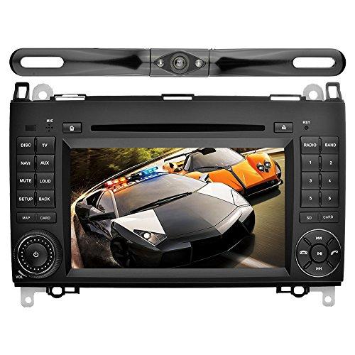 YINUO 7 Zoll 2 Din Android 5.1.1 Lollipop Quad Core Autoradio Moniceiver DVD GPS Navigation für Mercedes-Benz A-class W169 (2004-2012)/ Mercedes-Benz B-class W245 (2004-2012) / Mercedes-Benz Viano/Vito(W639) (2006-2016)/ Mercedes-Benz Sprinter W906/W209/W