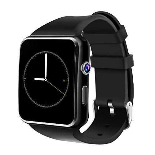 Smartwatch Android, DeYoun Bluetooth Smart Watch Handy Uhr mit Kamera / SIM Karten Einschub Sport Uhr mit Schrittzähler / Romte Capture / Schlaftracker für Android Samsung Galaxy S8,HTC,SONY,LG,Huawei