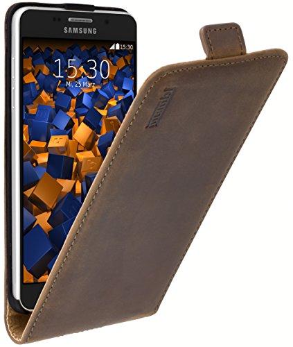 mumbi PREMIUM Leder Flip Case für Samsung Galaxy A5 (2016) Tasche braun