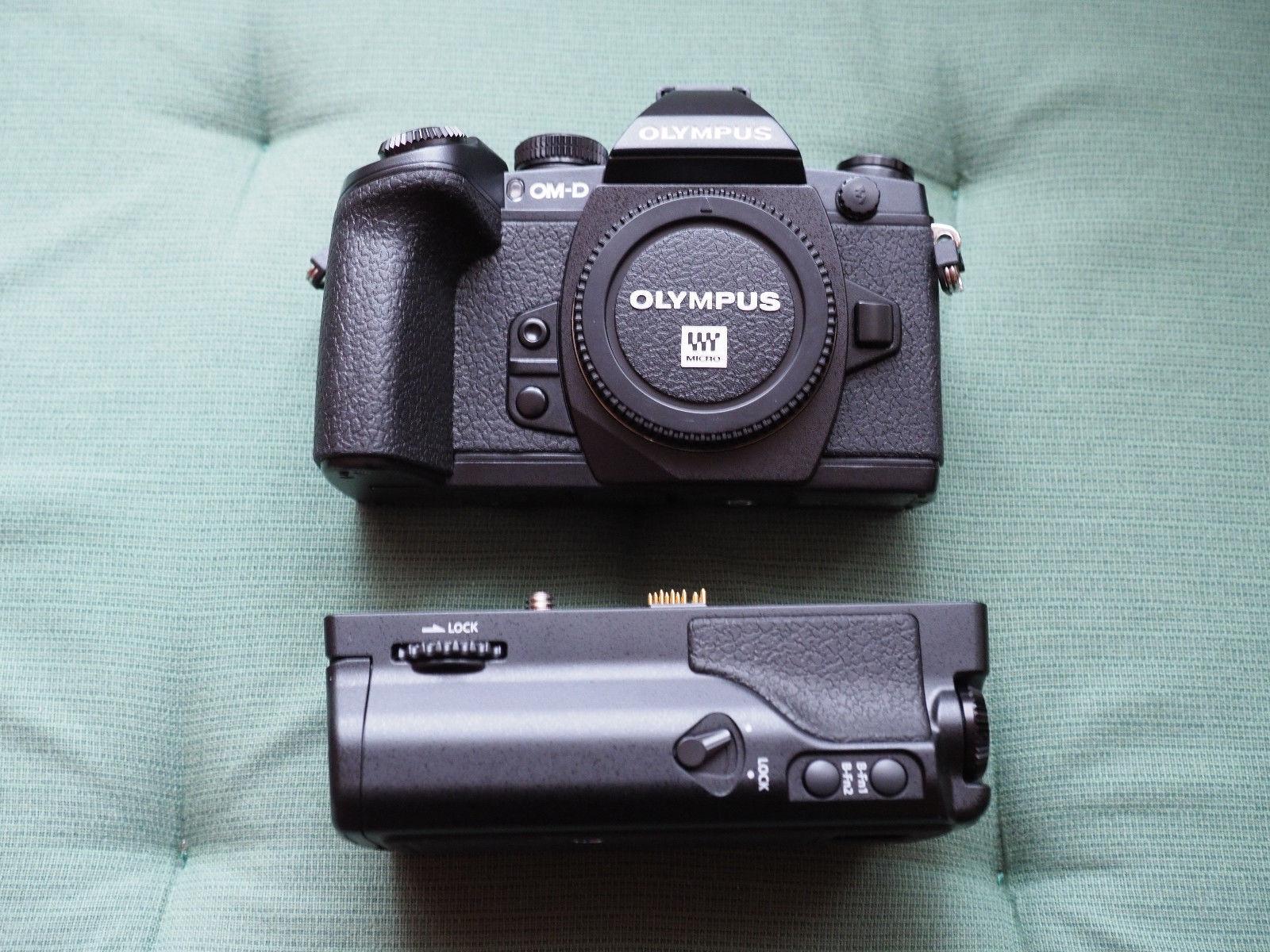 Olympus OM-D E-M1 + HLD-7 Batteriegriff OVP (wie neu)