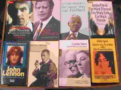 72 Bücher Biografie Biographie Lebenserinnerungen Autobiografie Lebensgeschichte