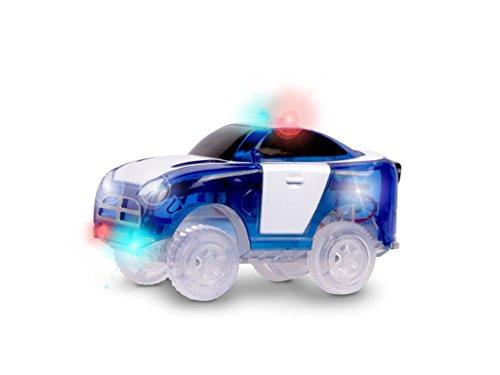 Magic Tracks Polizeiauto Blau mit 5 LEDs