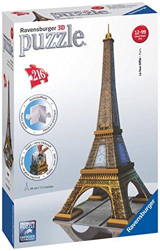 Ravensburger 12556 - Eiffelturm - 216 Teile 3D Puzzle-Bauwerke