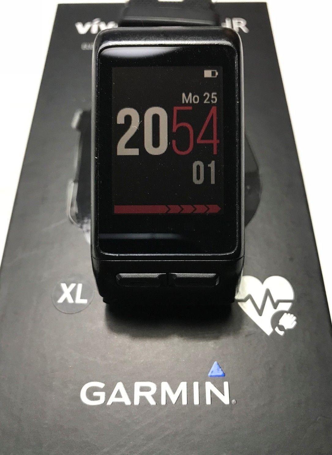 Garmin Vivoactive HR Fitness Tracker Smartwatch GPS Sport Uhr schwarz - Größe XL
