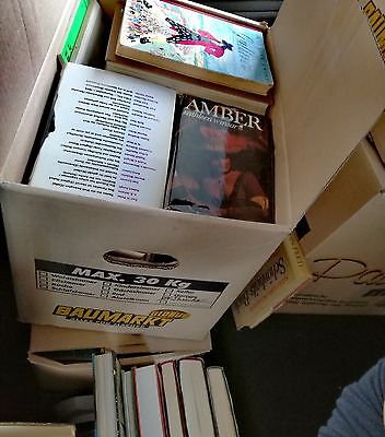 51 Bücher paket Sammlung Konvolut XXL Roman Thriller Set Kinder Hefte Kiste alt