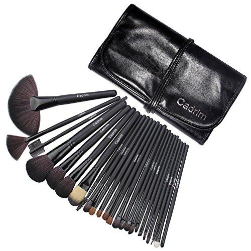Cadrim 24 teilig Make Up Pinselset Kosmetik Pinsel Lidschattenpinsel Rougepinsel Set mit Tasche