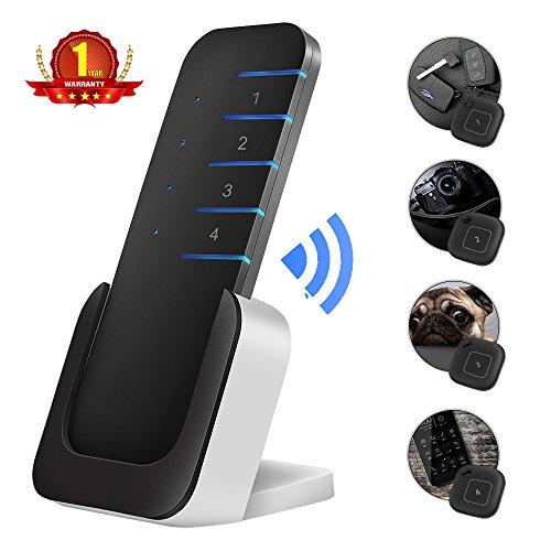 Wireless Schlüsselfinder , LED-Taschenlampe Taste Tracker, Key Finder, 1 Sender & 4 Empfänger , Key Location Alarm, Telefon-Lookup, Alles Finden 80dB