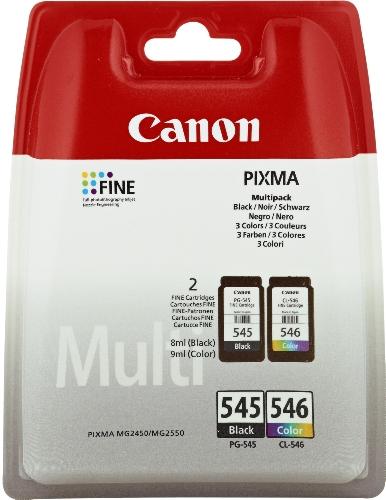 Canon 8287B005 Tintenpatronen (2er Pack, 8 ml/9 ml) schwarz/mehrfarbig