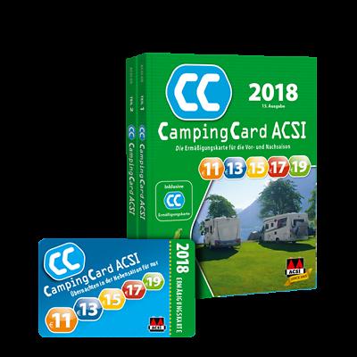 ACSI CampingCard Führer 2018 ACSI ermäßigung vor und nachsaison