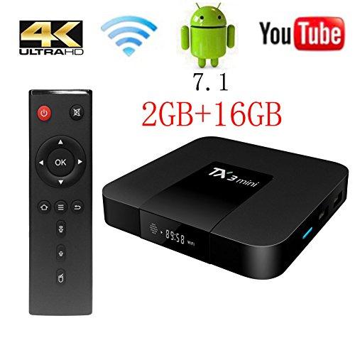 TX3 Mini TV Box Android 7.1, 2G RAM 16G ROM 4K Ultra HD WiFi 2017 Wingogo Smart Tv Box