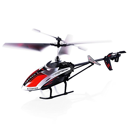 Ferngesteuerter Hubschrauber, 3.5 Kanal Robuster RC Hubschrauber Mini Fernsteuerung Helikopter Flugzeug mit Gyro-Technik und LED-Licht, Ready to Fly Modell
