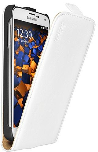 mumbi PREMIUM Leder Flip Case Samsung Galaxy S5 / S5 Neo Tasche weiss
