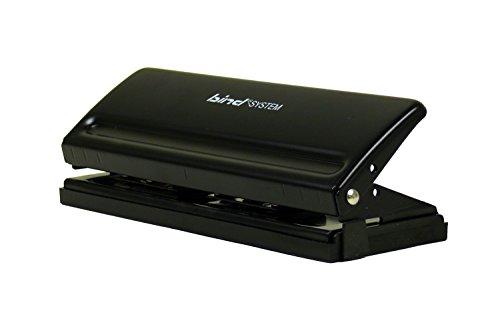 Bind T 6001 Systemlocher für DIN A5, A6 und A7 aus Metall, schwarz