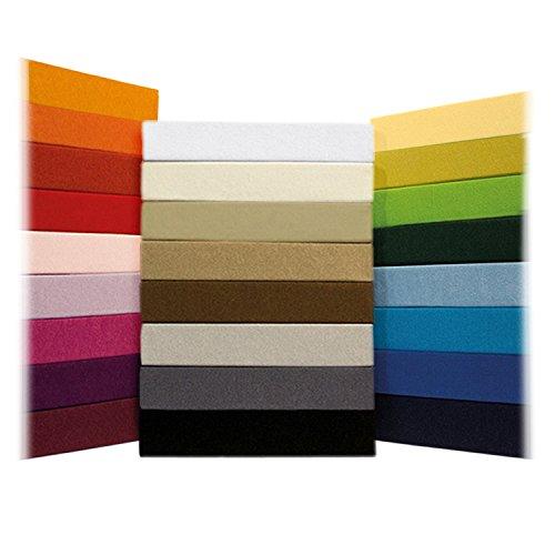 Zeitloses Jersey Spannbetttuch - alle Gren und Farben - 100% Baumwolle - 200 x 220 cm - anthrazit / dunkelgrau