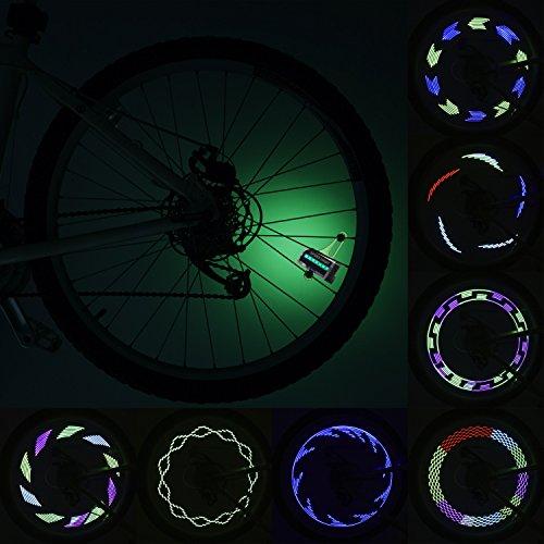 Fahrrad LED Speichenlicht BestTrendy Wasserdicht Rad Fahrradlichter,mit 14 ultrahellen LEDs, 30 Multifarbige Änderungen für Nacht, Outdoor-Fahrt