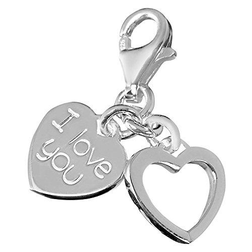 Thomas Sabo Damen-Charm-Anhänger I Love You Charm Club 925 Sterling Silber 0852-001-12