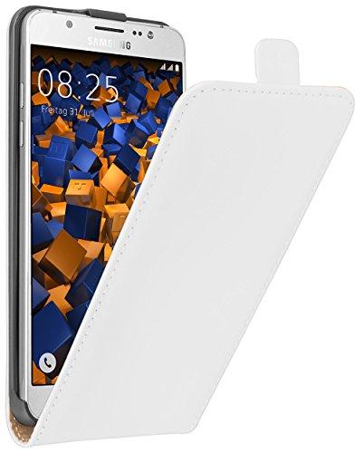 mumbi Flip Case für Samsung Galaxy J5 (2016) Tasche weiss