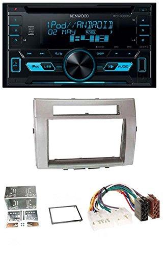 Kenwood DPX-3000U 2DIN USB AUX MP3 CD Autoradio für Toyota Corolla Verso 04-09 silber
