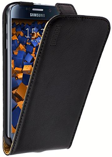mumbi PREMIUM Leder Flip Case Samsung Galaxy S6 / S6 Duos Tasche