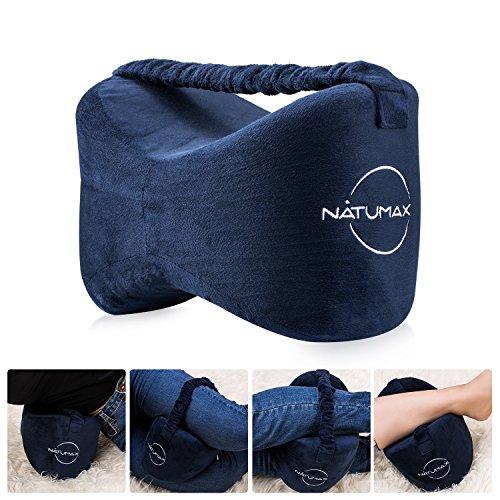 NATUMAX Orthopädisches Kniekissen für Seitenschläfer, Sorgt für Druckentlastung - Hüfte, Bein, Knie, Rücken und Schwangerschaft (Marineblau)