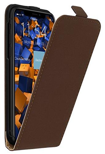 mumbi Flip Case für iPhone X Tasche braun