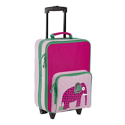 Lässig Kindertrolley stabiler Reisekoffer, Reisverschlussfach, Namensschild, Wildlife Elefant Koffer, 46 cm, 25.3 L,