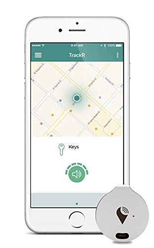 TrackR Bravo - Bluetooth Tracking-Gerät. Schlüsselfinder. Telefonfinder. Brieftaschen-Ortungsgerät 3. Generation, 4 Packung Silber