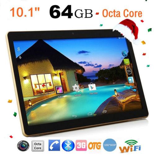 10,1'' OCTA CORE 4GB64GB Dual SIM Kamera HD 3G WIFI Android 5.1 Ebook TABLETS PC