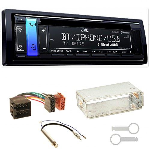 JVC KD-R891BT FLAC Autoradio USB AUX 1-DIN AOA WMA MP3 Einbauset für Seat Ibiza 6L Arosa Cordoba