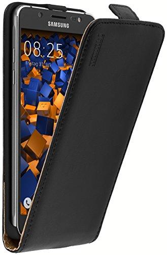 mumbi PREMIUM Leder Case für Samsung Galaxy J5 (2016) Tasche