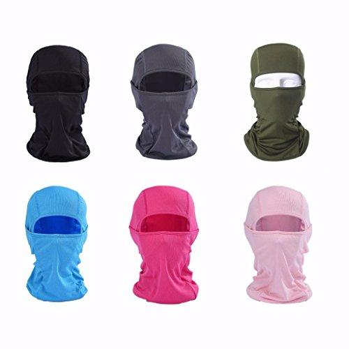 VERTAST Sturmhaube Balaclava, super dehnbare atmungsaktive Sport Maske für Outdoor-Skifahren Radfahren Motorrad Helm Wandern Camping Nackenwärmer, Blau